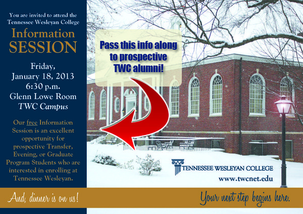 2013.Transfer Evening Info Session