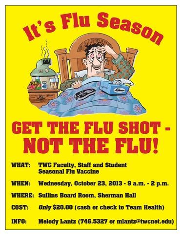 2013 Flu Shot Poster